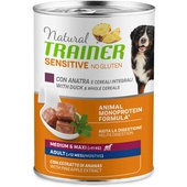 NATURAL TRAINER SENSITIVE NO GLUTEN MEDIUM-MAXI ADULT DUCK & CEREAL WET